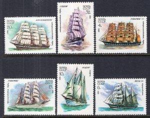 Russia MNH 4981-6 Sailing Ships