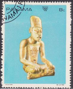 Panama 495f CTO 1968 Mexican Art: Seated Figure