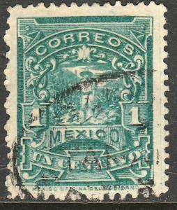 MEXICO 242 1cent MULITA WMK CORREOSEUM USED (147)