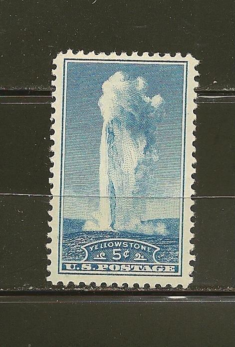 USA 744 Old Faithful Yellowstone MNH
