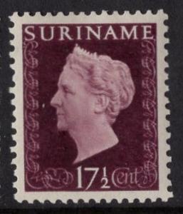 Surinam   #223   MH  1948  Wilhelmina  17 1/2c