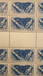 French Polynesia #111* NH Full sheet of 50  CV $62.50+