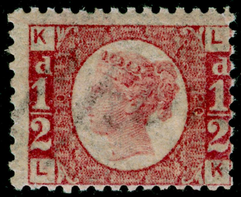 SG48, ½d rose-red plate 20, NH MINT. Cat £350+. LK