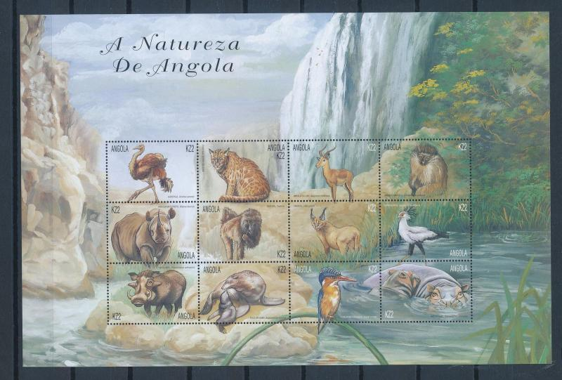 [31280] Angola 2000 Wild animals Mammals Birds  MNH Sheet