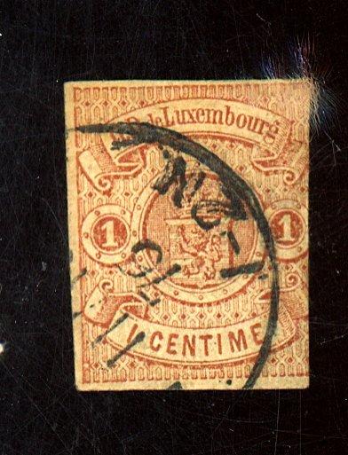 LUXEMBOURG #4 USED AV-FINE CAT $400