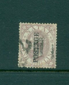 Natal - Sc# 44. 1873 Victoria 1SH. Used. $37.50.