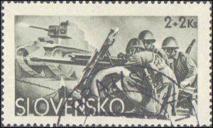 Slovakia #B14-B16, Complete Set(3), 1943, Military Related, Used, CTO