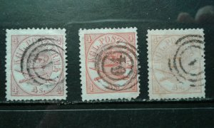 Denmark #13 used 3 different shades e201.6182