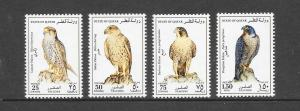 BIRDS - QATAR #836-9-FALCONS  MNH