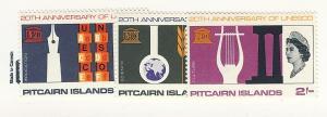 Pitcairn Islands, 64-66, UNESCO, Singles, MNH