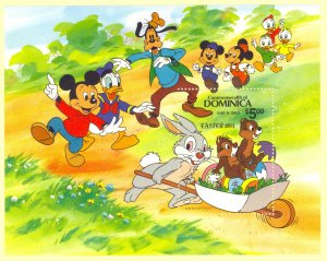DOMINICA 1984 DISNEY EASTER Souvenir Sheet Sc 841 MNH