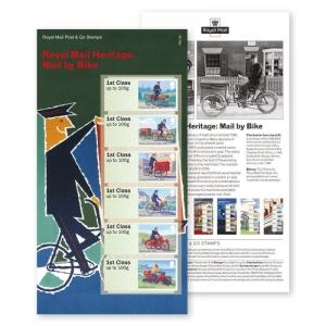 UK Post & Go Royal Mail Heritage Mail by Bike stamp set MNH 2018