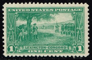 US STAMP #617 1925 Lexington-Concord Issue 1¢ Washington at Cambridge  MH/OG