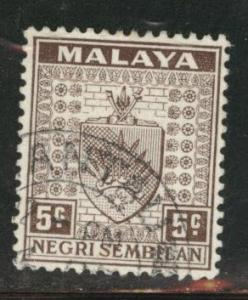 MALAYA Negri Sembilan Scott 24 used 1935 stamp