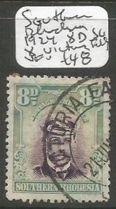 Southern Rhodesia 1924 8d SG 8 Victoria Falls VFU (10chq)