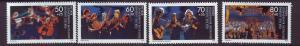 J18263 JLS stamps 1988 berlin mh set/4 music #9nb257-60