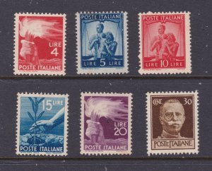 Italy a small mint lot from the 1945 set