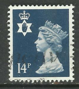 Northern Ireland GB 1988 QE2 14p Deep Blue SG NI 39 ( F322 )