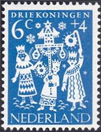 Netherlands # B359 mnh ~ 6¢ + 4¢ Holiday Folklore - Epiphany