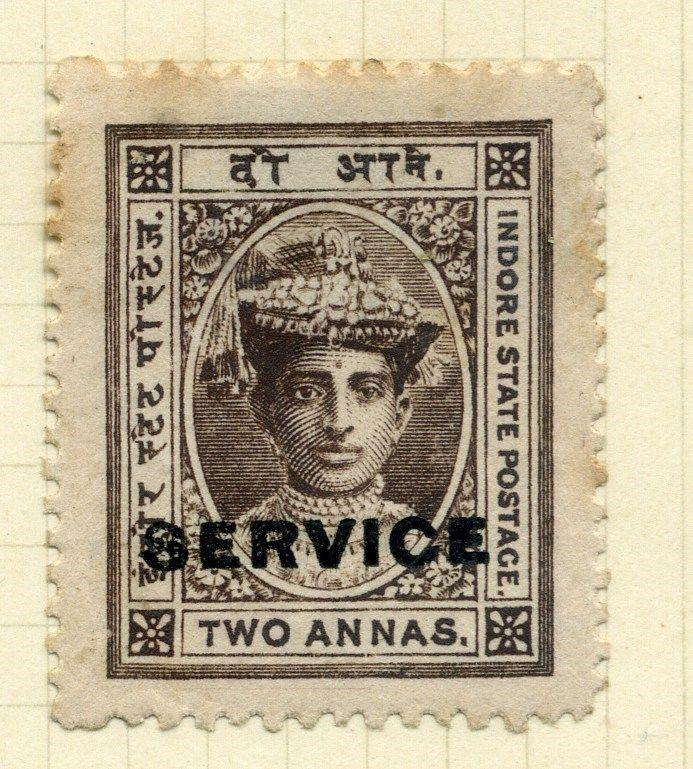 INDIA  INDORE  Early 1900s early SERVICE  issue fine used 2a. value