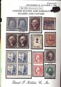 United States and Foreign Stamps and Covers, Kelleher 573