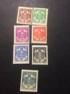 Monaco sc 145-149,149a,150a MHR