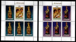 Aitutaki Cook Islands Scott 271-274 Christmas 1982 Mini sheet set