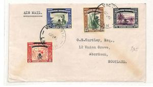 V117 1948 North Borneo Victoria Labuan Island GB Aberdeen Scotland Cover PTS