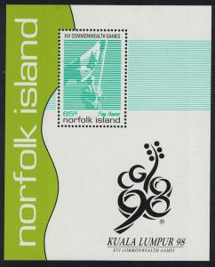 Norfolk 16th Commonwealth Games Kuala Lumpur MS SG#MS682 SC#662