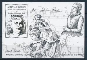 [95063] Barbuda 1986 Music Bach OVP Barbuda Mail Sheet MNH