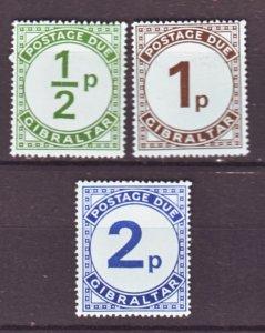 J22184 Jlstamps 1971 gibraltar set mnh #j4-6 postage dues