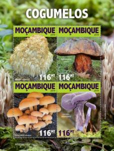 MOZAMBIQUE - 2019 - Mushrooms - Perf 4v Sheet - MNH