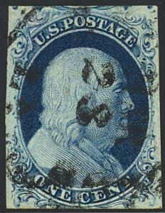 7 Var, PLATE 3 - XF GEM DEEP BLUE COLOR