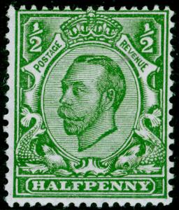 SG344 SPEC N5(2), ½d pale green, LH MINT. WMK RC (SIMPLE)