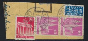 Germany AM Post Scott # 646, 651 pair, RA4, used, opp