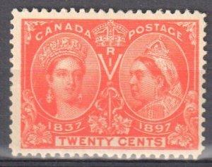 Canada #59 Mint F-VF OG NH C$825.00 -- Jubilee --