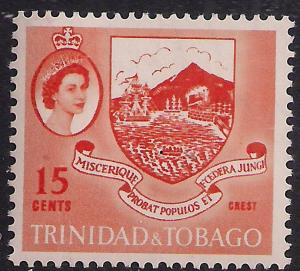 Trinidad & Tobago 1960 - 67 QE2 15ct Crest MM SG 291 ( M1267 )