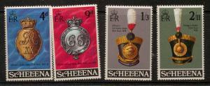 ST.HELENA SG257/260 1970 MILITARY EQUIPMENT MNH