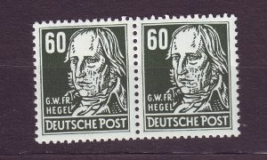 J23547 JLstamps 1953 germany DDR pair mnh #133 hegel wmk 297