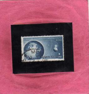 ITALIA REPUBBLICA ITALY REPUBLIC 1956 SPAZIO SPACE CONGRESSO ASTRONAUTICO AST...