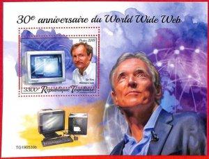 A3115 - TOGO, ERROR MISSPERF, Souvenir s: 2019, Tim Berners-Lee, World Wide Web
