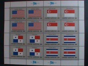 UNITED NATION-1981 SC#362-5- U. N. FLAGS SERIES MNH FULL SHEET- VERY FINE