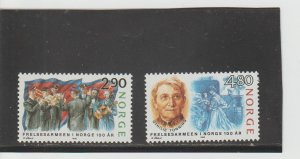 Norway  Scott#  922-923  MNH  (1988 Salvation Army)