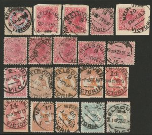 VICTORIA : Melbourne 1907- 1912 Commonwealth style (single date line) collection