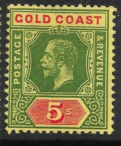 GOLD COAST SG82 1916 GREEN & RED ON YELLOW MTD MINT