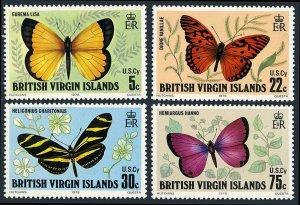 Virgin Islands 342-345, MNH. Butterflies, 1978