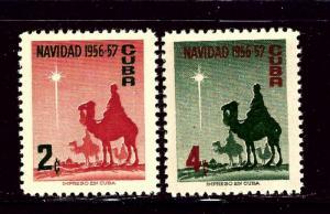Cuba 562-63 MNH 1956 Christmas