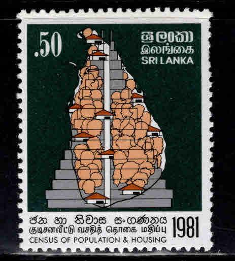 Sri Lanka Scott 598 MNH** 1981 Housing Census stamp