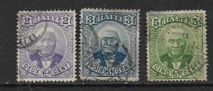 HAITI 22-24 USED  GENERAL LOUIS SALOMON, SHORT SET 1887