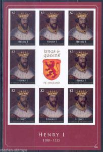 ST. VIN GRENADINES  KINGS & QUEENS OF ENGLAND HENRY I  IMPERF SHEET NH